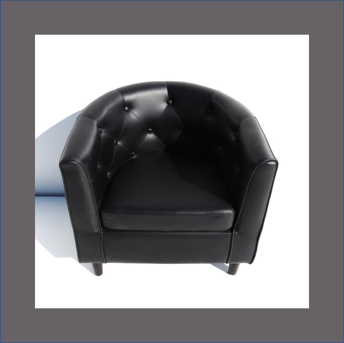 black-tub-chair-deep-buttoned